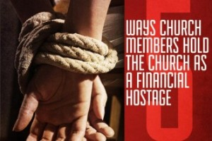 """""""Almost every church has one or more members who attempt to use """"their"""" funds for their own needs and preferences."""""""